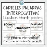 Posters Question Words Spanish carteles interrogativas DAY
