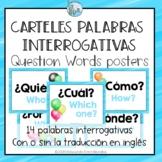 Posters Questions Words Spanish Carteles Interrogativas GL