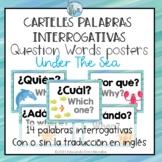 Posters Questions Words Spanish Carteles Interrogativas Un