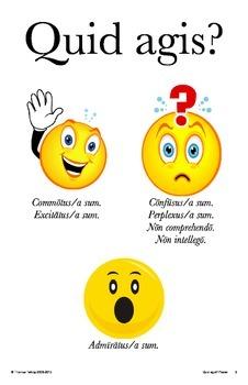 Latin Posters: Quid agis? Latin Expressions