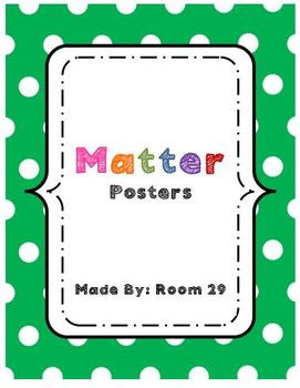 Posters: Science-Matter