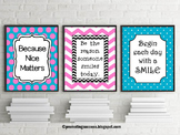 Be the Reason Someone Smiles Today Motivational Posters Back to School