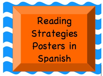 Reading Strategy Posters Spanish