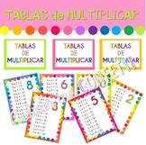 Posters Tablas de multiplicar - Colour me Confetti