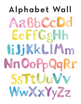 Posters - Watercolor ABC Wall