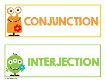 Parts of Speech, Figurative Language, Sentence Types - Posters & More - Bundle
