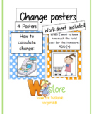 Posters about calculating change
