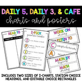 Posters and Charts for Daily 5, Daily 3, and CAFE