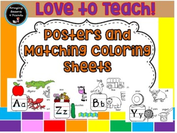 Posters and Matching Coloring Sheets