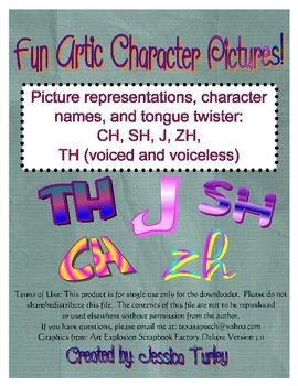 Posters and Tongue Twisters for Articulation: CH, SH, TH, J, ZH
