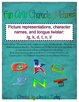 Posters and Tongue Twisters for Articulation: G K D T N L