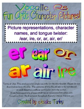 Posters and Tongue Twisters for Articulation: Vocalic Rs