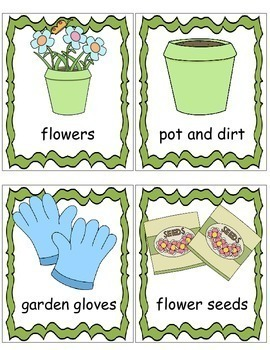Garden Theme, Write the Room, Posters, Writing Activities, For Garden Unit