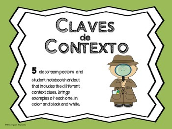 Spanish Context Clues- CLAVES DE CONTEXTO