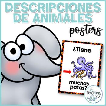 Pósters de descripciones y preguntas sobre animales