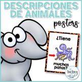 Descripciones y preguntas de animales - Animals descriptions in Spanish
