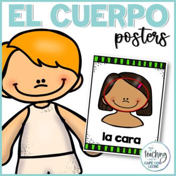 Pósters de las partes del cuerpo / Spanish body parts posters