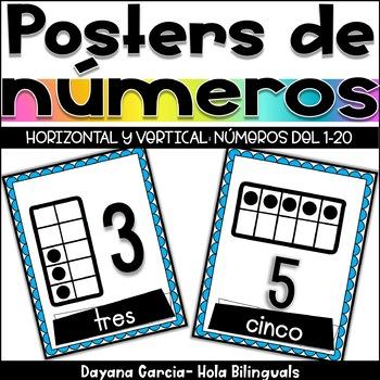 Posters de números- Ten Frame Posters- SPANISH