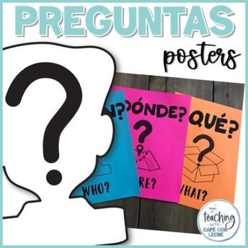 Pósters de preguntas / Spanish Question Word Wall Posters