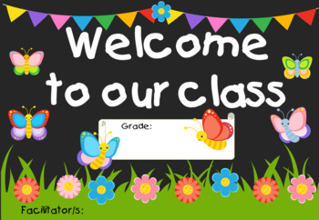 Back to School - Posters for Classroom - Butterfly and Garden Theme