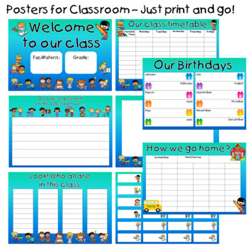Posters for Classroom - School kids Theme