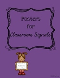 Posters for Classroom Signals Back to School Behavior Management