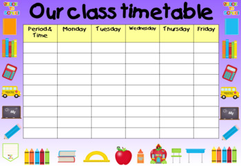 Back to School - Posters for Classroom - Supplies Theme