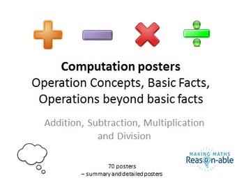 Posters for Computation - Basic Facts and Operations (summary and individual