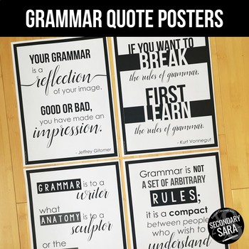 Grammar Quote Posters For English Classrooms By Secondary Sara TpT Best Grammar Quotes