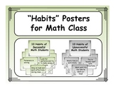 Posters for Math Classroom: 10 Habits of Successful Math Students