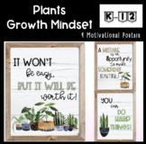 Posters for Motivation-Inside Plants Classroom Decor l Gro