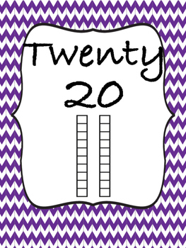 Posters for Numbers 10-120 by tens with Standard, Written, and Base Ten Form