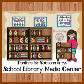 Posters for Sections of the School Library Media Center