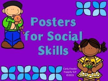 Posters for Social Skills- Preschool Freebie