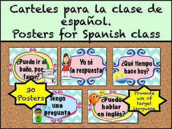 Spanish Posters. Posters for Spanish class.
