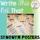 Posters for Synonyms Adjectives Shades of Meaning