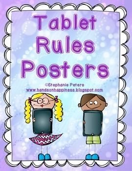 Posters for Tablet/iPad Rules