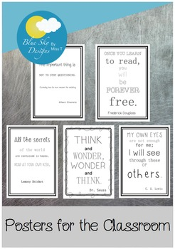 Posters for the Classroom: Inspirational Learning Quotes