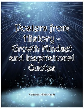 Posters from History - Growth Mindset and Inspirational Quotes