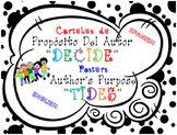 Posters in English/Spanish for Author's Purpose