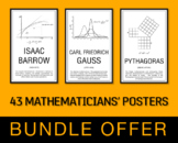 Posters of 40 Mathematicians - Bundle Offer