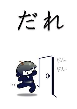 Japanese : Ninja Posters of 6 Question Words : なに どこ いつ どうやって だれ どうして