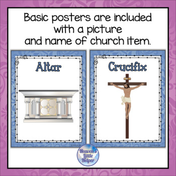 Posters of Catholic Church Items {Blue}