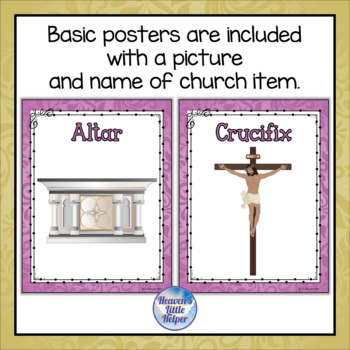 Posters of Catholic Church Items {Orchid}