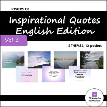 Posters of Inspirational Quotes in ENGLISH Vol. 1