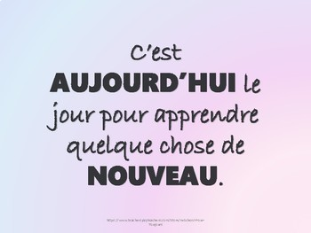 Posters of Inspirational Quotes in FRENCH Vol. 1