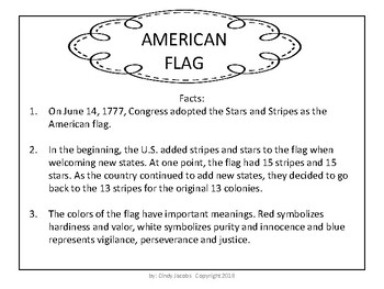 Posters of U.S Symbols and U.S. Symbol Scavenger Hunt