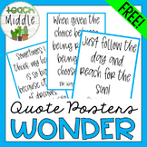 Posters of the Quotes & Precepts from WONDER!
