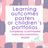 Posters or portfolios: Early Years Learning Framework (EYL