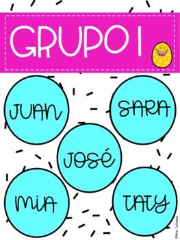 Posters para organizar grupos/ Posters to organize groups.